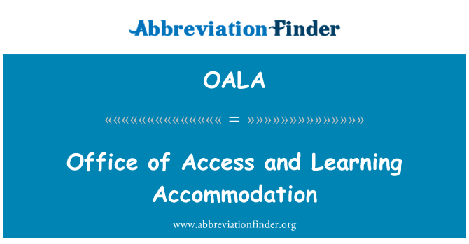 OALA: Office Access ve konaklama öğrenme