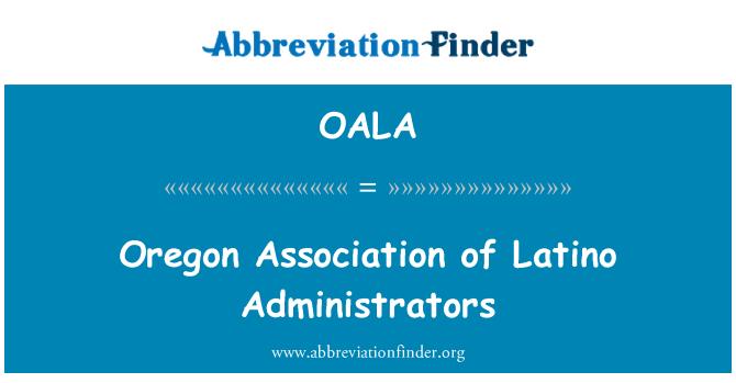 OALA: Latin yöneticilerinin Oregon Derneği