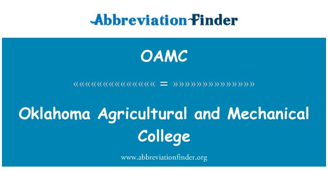 OAMC: Oklahoma tarım ve mekanik üniversite