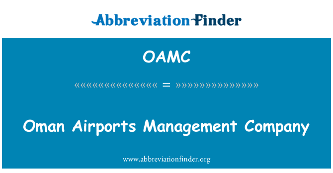 OAMC: Umman hava alanları yönetim şirketi