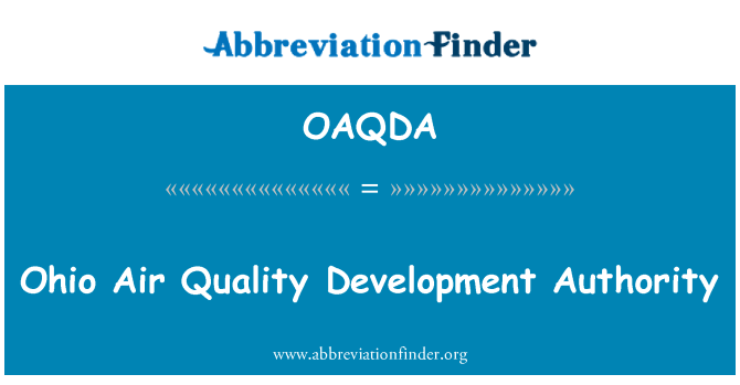 OAQDA: Ohio Air Quality Development Authority