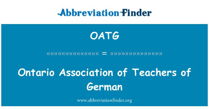 OATG: Saksa õpetajad Ontario Assotsiatsiooni