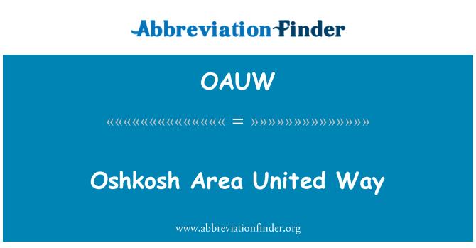 OAUW: Oshkosh Area United Way