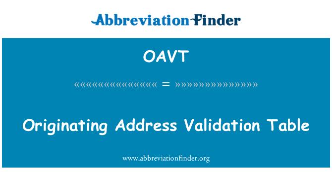 OAVT: Kaynak adres doğrulama tablosu