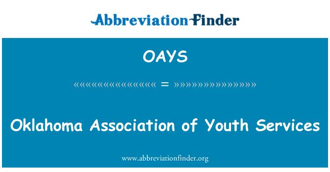 OAYS: Oklahoma Asociación de servicios a la juventud