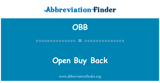 OBB: Open Buy Back