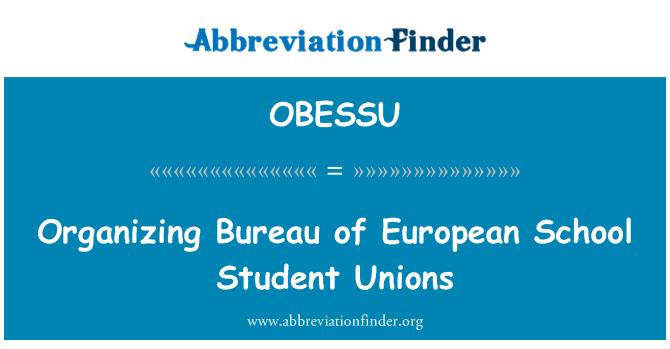 OBESSU: Organizing Bureau of European School Student Unions