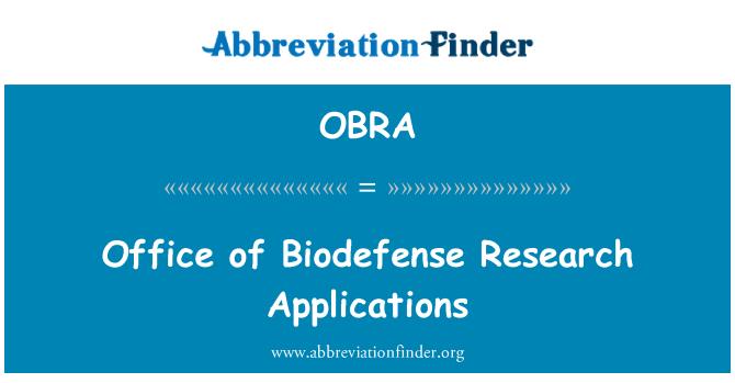 OBRA: Biodefense teadus-rakenduste Office