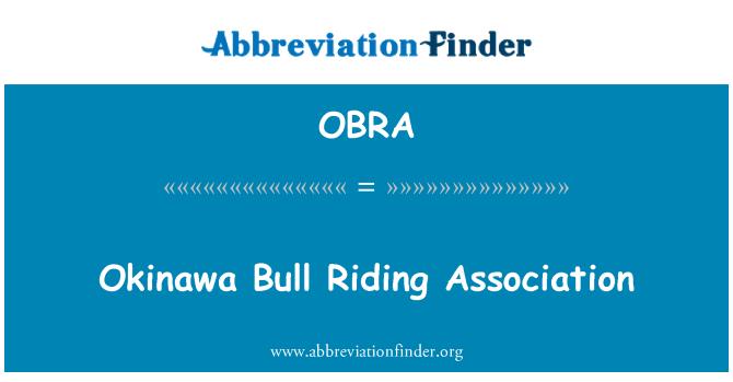 OBRA: Okinawa Bull binme Derneği