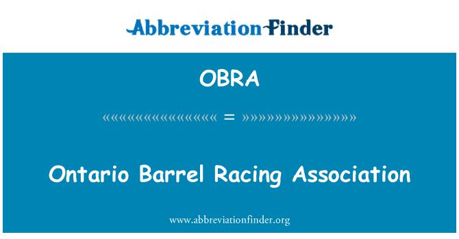 OBRA: Ontario Barrel Racing Association
