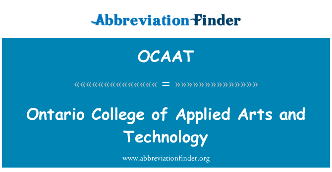 OCAAT: Ontario College of Applied Arts and Technology