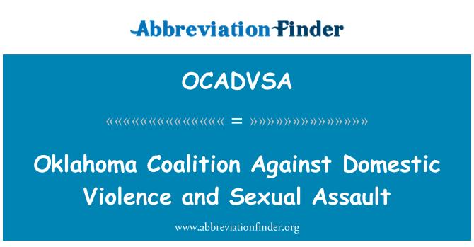 OCADVSA: Oklahoma Coalition Against Domestic Violence and Sexual Assault