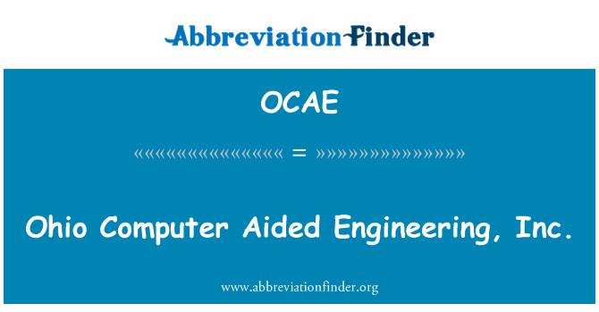 OCAE: Ohio Computer Aided Engineering, Inc.
