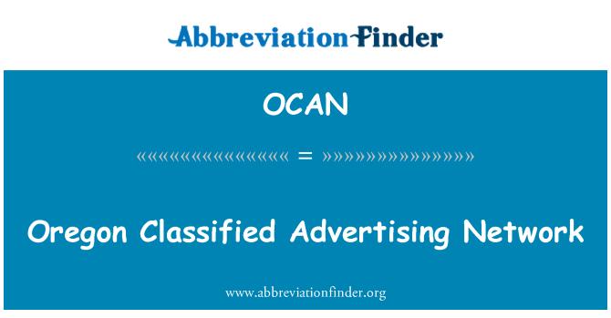 OCAN: Oregon Classified Advertising Network