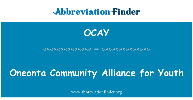 OCAY: Oneonta Community Alliance for Youth