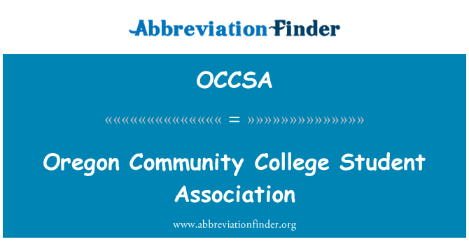 OCCSA: Oregon Community College Student Association