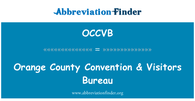 OCCVB: Orange County Convention & Visitors Bureau