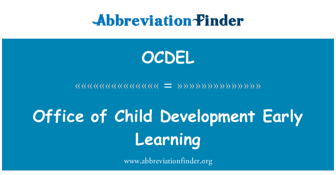 OCDEL: Office of Child Development Early Learning