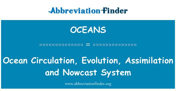 OCEANS: Ocean Circulation, Evolution, Assimilation and Nowcast System
