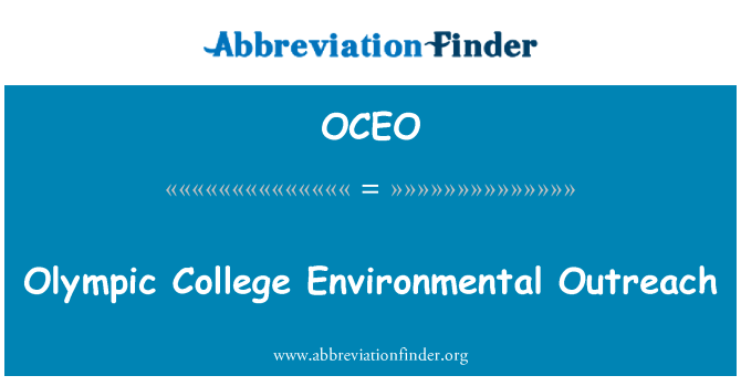 OCEO: Olympic College Environmental Outreach