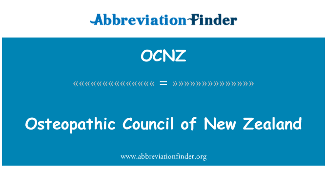 OCNZ: Osteopathic Council of New Zealand