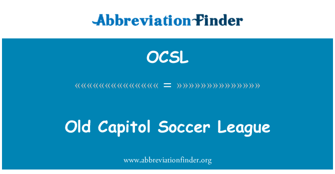 OCSL: Old Capitol Soccer League