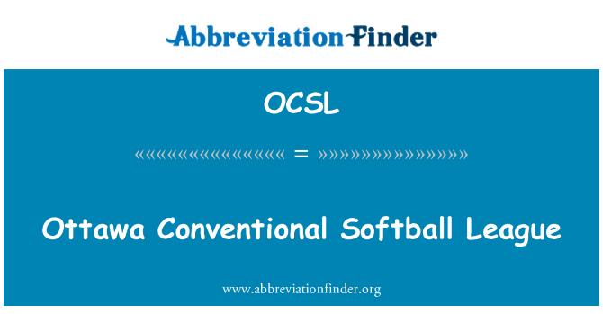 OCSL: Liga de Softbol convencional de Ottawa