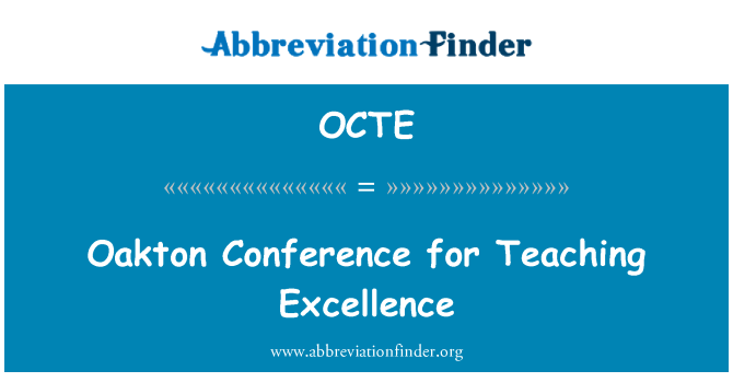 OCTE: Oakton Conference for Teaching Excellence