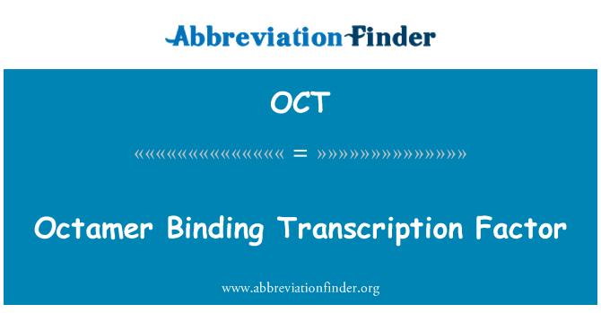 OCT: Octamer Binding Transcription Factor