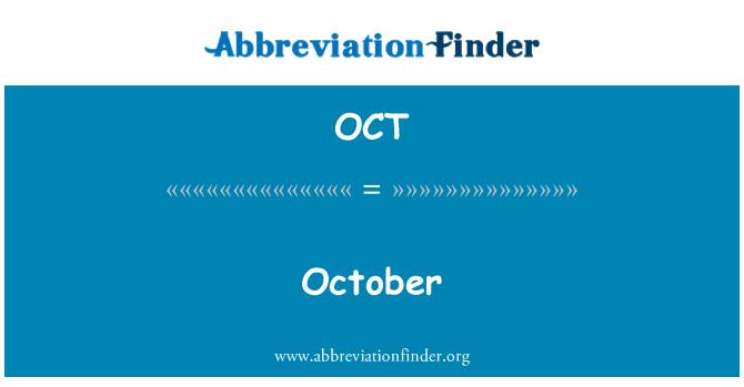 OCT: October