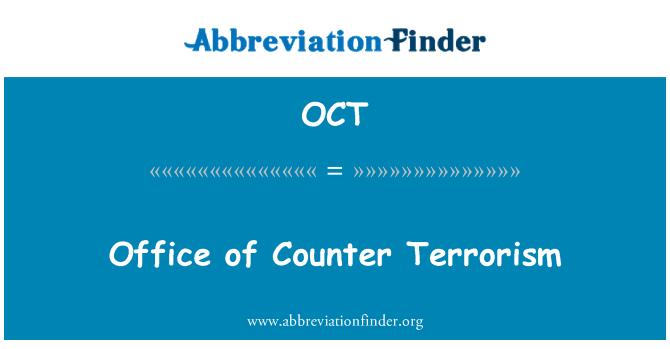 OCT: Office of Counter Terrorism