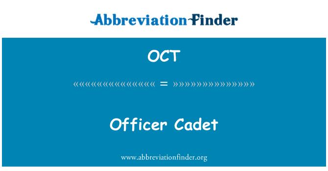 OCT: Officer Cadet