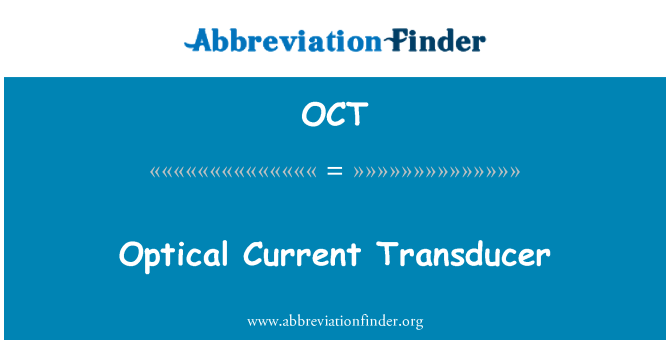 OCT: Optical Current Transducer