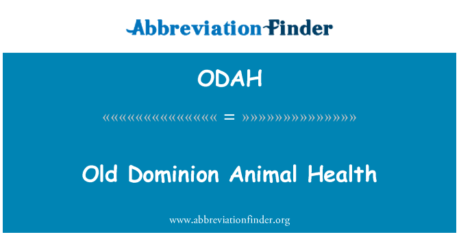 ODAH: Vana Dominion loomatervishoiu