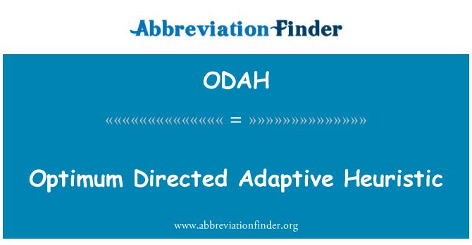 ODAH: Optimum adaptif sezgisel yönetmen