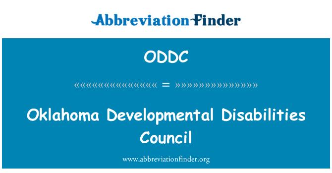 ODDC: Oklahoma Developmental Disabilities Council
