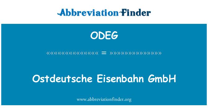 ODEG: Ostdeutsche Eisenbahn GmbH