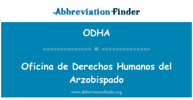 ODHA: Oficina de Derechos Humanos del Arzobispado