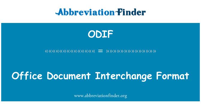 ODIF: Formato de intercambio de documento de Office