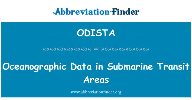 ODISTA: Oceanographic Data in Submarine Transit Areas