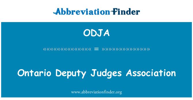 ODJA: Ontario Deputy Judges Association