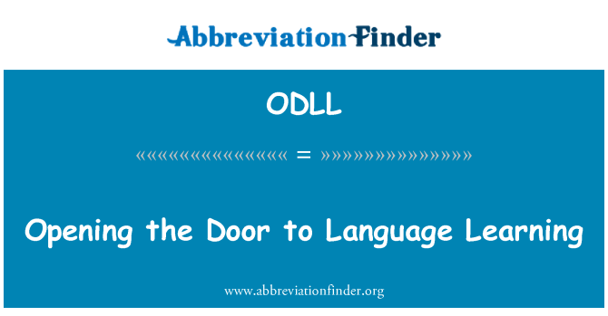ODLL: Opening the Door to Language Learning