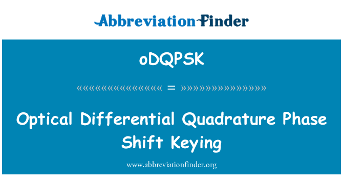 oDQPSK: Optical Differential Quadrature Phase Shift Keying