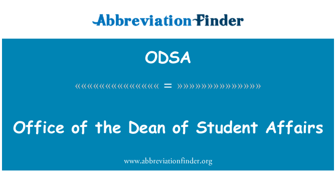ODSA: Office Student Affairs Dean