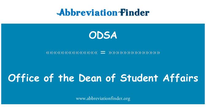 ODSA: Öğrenci işleri Dekan ofisi