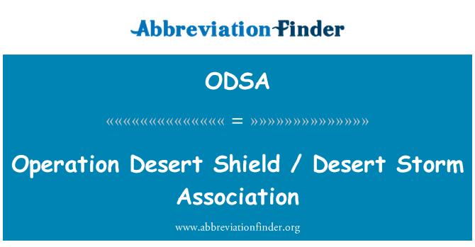 ODSA: Operasyon çöl kalkanı / çöl fırtınası Derneği