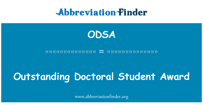 ODSA: Tasumata doktorant auhinna