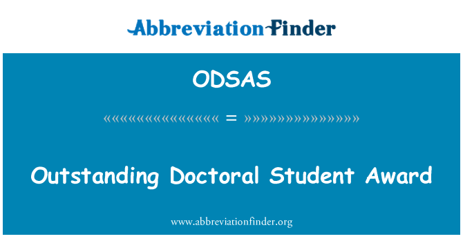 ODSAS: Outstanding Doctoral Student Award