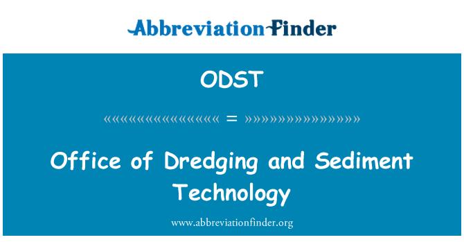 ODST: Urząd pogłębiania i technologii osadu