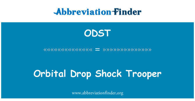 ODST: Orbital Drop Shock Trooper